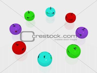 Circle of apple