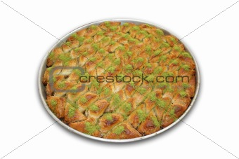 A tray of Baklava - Including clipping path