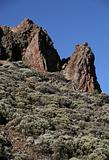Mountains in El Teide national park on Tenerife island