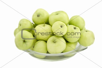 Apples on a plate