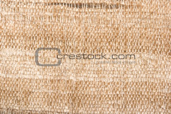 Raw silk texture close up