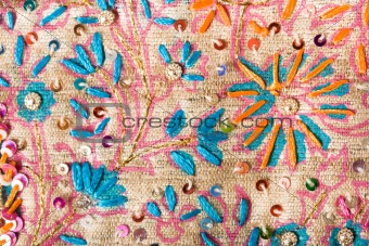 Flower pattern on silk
