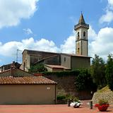 Santa Croce church in Vinci, Italy.