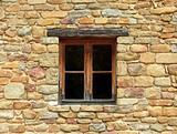 Window of stone home