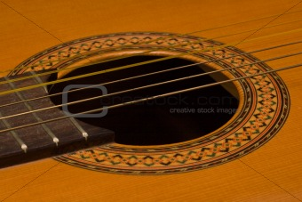 Classical guitar close up