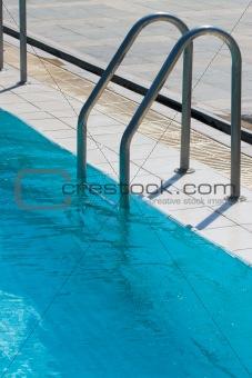 Ladder to swimming pool