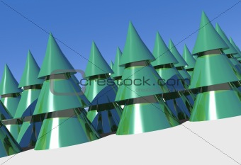 3d xmas trees