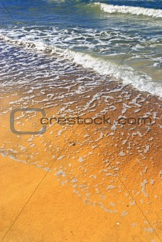 flood water on the beach