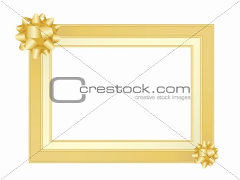Gold frame with bow