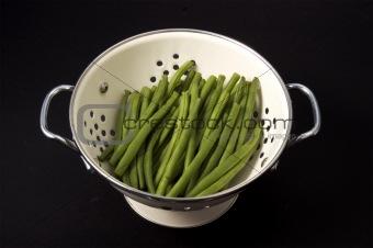 Green Beans in Collander