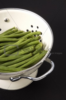 Green Beans in Collander