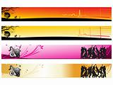 web 2.0 style musical series website banner set 14