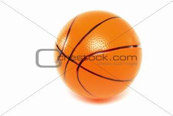 basketball toy on white background