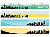 web 2.0 style grunge city series website banner set 5