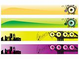 web 2.0 style musical series website banner set 4