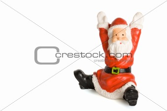 Santa Claus figurine isolated on white