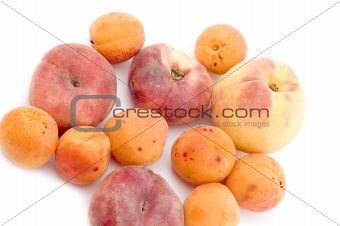 apricot and peach close up