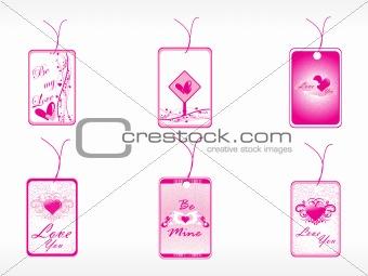 beautifull tag with romantic   heart set_3