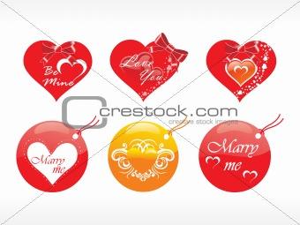 beautifull tag with romantic heart set_14