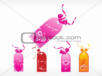 beautifull tag with romantic heart set_22