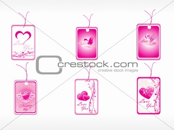 beautifull tag with romantic heart set_4