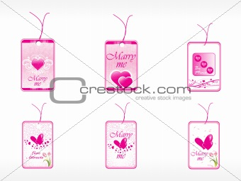 beautifull tag with romantic heart set_5