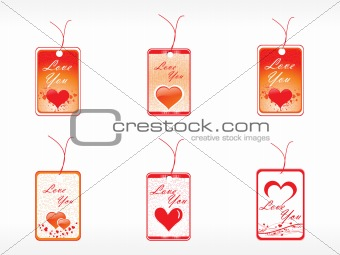 beautifull tag with romantic heart set_6