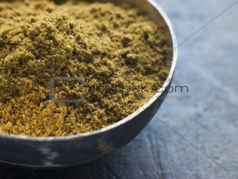 Dish of Madras Curry Powder