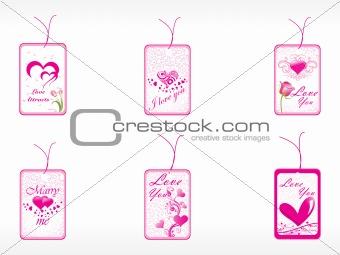 beautifull tag with romantic heart set_8