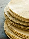 Stack of uncooked Papadoms