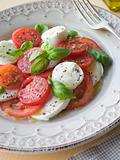 Tomato Mozzarella Cheese and Basil Salad