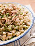 Bowl of Tuna and Bean Salad