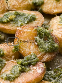Baby Potatoes roasted with Pesto