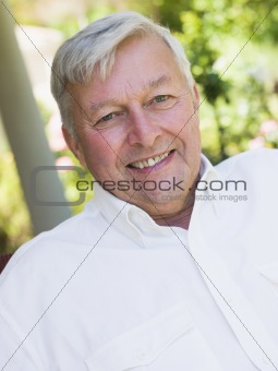 Portrait of senior man relaxing