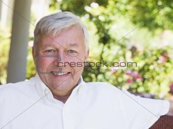 Portrait of senior man relaxing