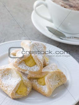 Bauletti Lemon Biscuits with a Cappucino