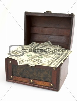 box with money