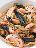 Bowl of Seafood Tagliatelle