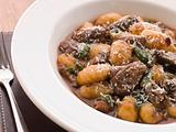 Oxtail Braised in Red Wine with Basil Gnocchi and Parmesan Chees