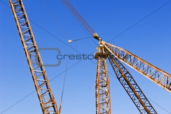 Detail of a lifting crane at a marble quarry, Alentejo, Portugal