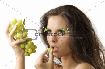 the model and grape