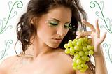 great eyelashes and grape