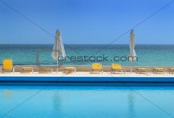 Beautiful luxury pool  on a sea view