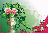 Flower vase background
