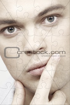 handsome man puzzle