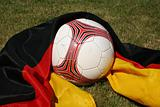 Soccer ball and german flag