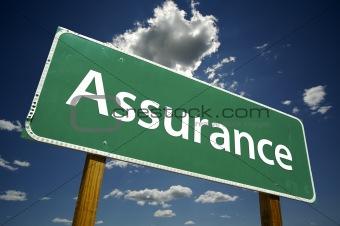 Assurance Road Sign
