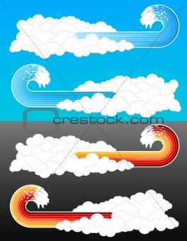Splash wave cloudy elements 2