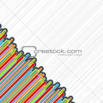 Colorful retro corner bars