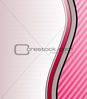 Pink slick wavy abstract